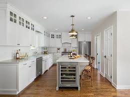 shaker kitchen cabinets transitional with medium wood contemporary