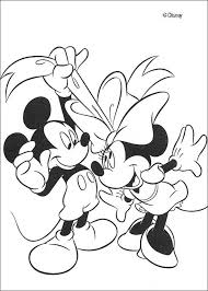 Mickey Mouse And Minnie Coloring Page