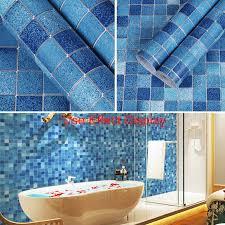 bad wand aufkleber pvc mosaik tapete küche wasserdichte fliesen aufkleber kunststoff vinyl selbst klebstoff tapeten wohnkultur