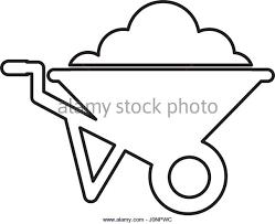 wheel barrow isolated icon Stock Image