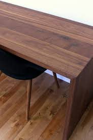 diy solid walnut waterfall desk for two mid century desks and