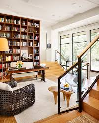 Decorating Bookshelves In Family Room by Built Ins Around Fireplace Family Room Traditional With Black