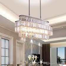 großhandel moderne kristall kronleuchter rechteck kronleuchter leuchten luxus led pendel leuchten für esszimmer restaurant beleuchtung lightzone
