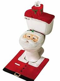 uten weihnachten toilettensitzbezug weihnachtsdeko wc sitze set mit sitzbezug teppich gewebe deckel für badezimmer im weihnachtsmann design