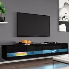 details zu tv lowboard rack new 180 tv tisch tv schrank hängeschrank hängend hochglanz matt