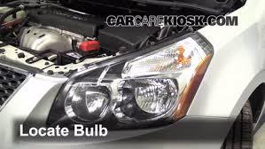 headlight change 2009 2010 pontiac vibe 2009 pontiac vibe 1 8l 4