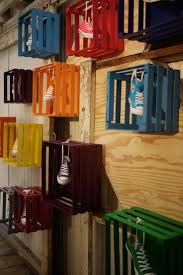 Love The Idea Of Painting These Crates Color Possibilities Are Endless For Any Display Shoe