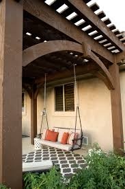 Diy Under Deck Ceiling Kits Nationwide by Free Standing Diy Timber Frame Pergola Kit Installed Over Backyard