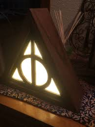 Zelda Triforce Lamp Uk by Wooden Deathly Hallows Night Light