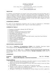 Sample Resume Of Project Manager Construction Coordinator Template Premium Samples