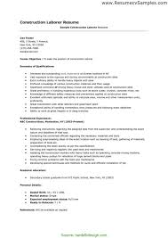 Sample Resume For Construction Worker Black Dgfitness Co Best Of