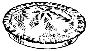 Pie clipart black and white 2