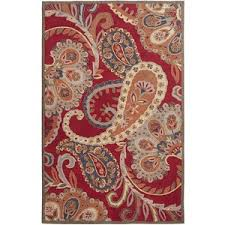 Pier e Red Paisley Tufted Wool Rug Pier 1 Imports Polyvore
