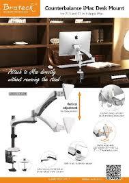 Imac Vesa Desk Mount by Ldt05 C012m Counterbalance Desk Mount Monitor Arms Gas Spring