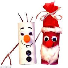 diy noël enfant spécial récup père noël et bonhomme de neige