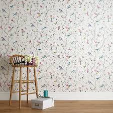 Buy John Lewis Hummingbird Trees Wallpaper Multi Online At Johnlewis