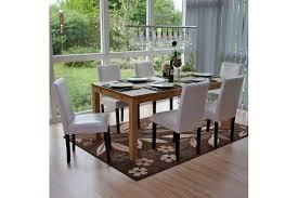 6x esszimmerstuhl weiß gespaltenes leder stuhl küchenstuhl 6 weisse stühle set