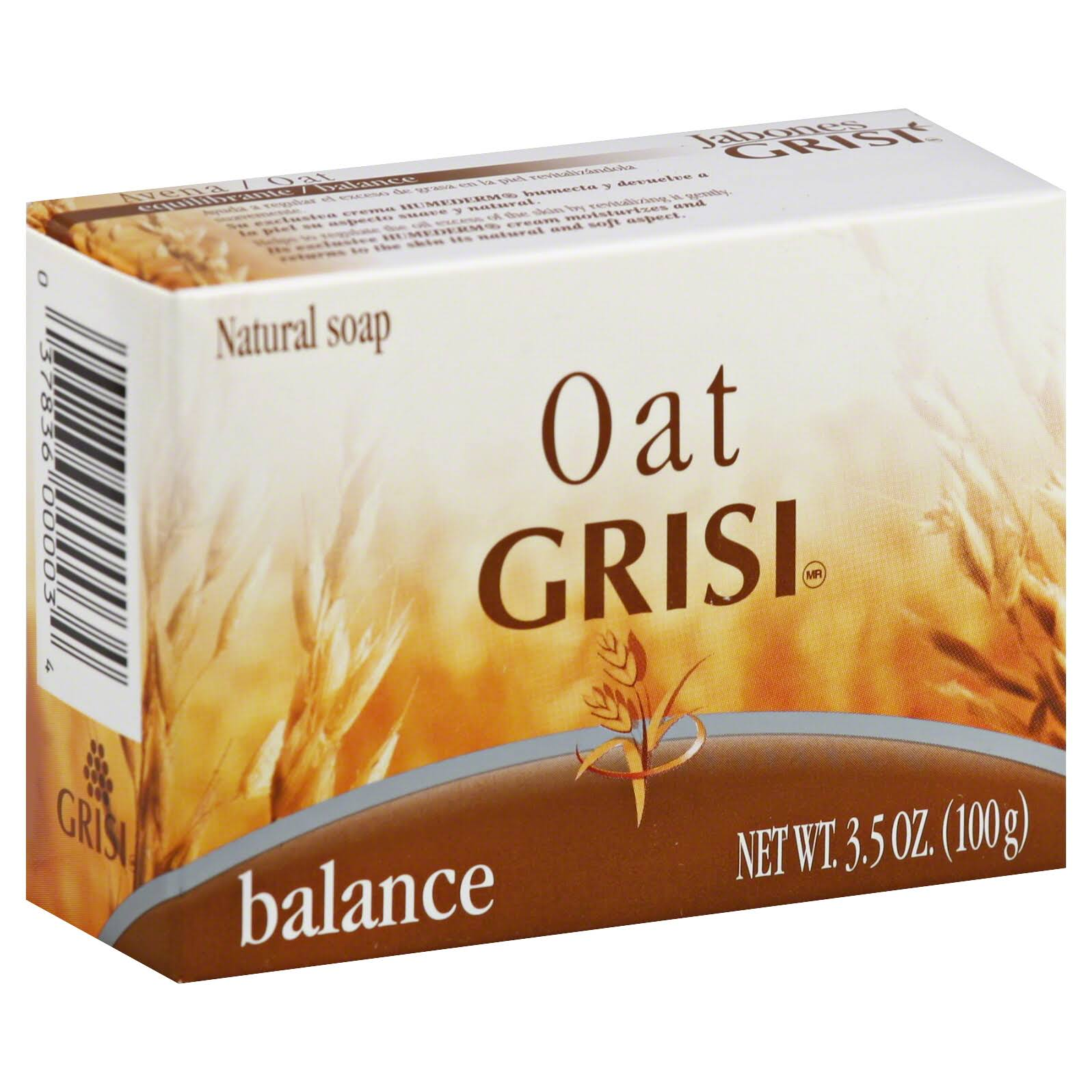 Grisi Oat Balancer with Humederm Bar Soap - 3.5oz