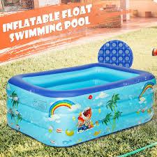 kinder swimming pool planschbecken kinderpool swimmingpool aufblasbar pool 130x85x45cm