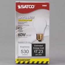 satco s4882 60 watt frosted shatterproof finish incandescent