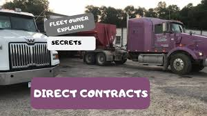 100 Trucking Contracts Fleet Owner Gives Secrets To Direct