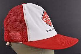 Red McLean Trucking Company Coast Coast Company To Coast Trucker Hat ...