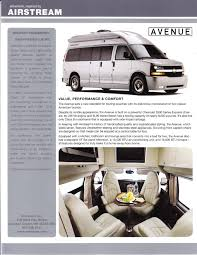 100 2011 Airstream Avenue Brochure Download RV Brochures