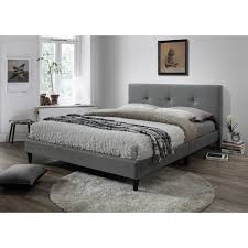LYKE Home Jackson Tufted Grey Platform Bed Free Shipping Today
