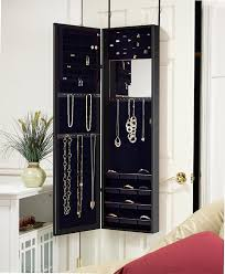 Amazon.com: Plaza Astoria Wall/Door-Mount Jewelry Armoire, Black ... Belham Living Hollywood Mirrored Locking Wallmount Jewelry Home Decators Collection Provence Wall Mount Armoire Target Free Standing Floor Mirror Mounted Driftwood Innovation White Chest 2018 Wooden Cabinet With Double Doors Photo Hayworth Silver Pier 1 Imports Bordeaux Cheval Kimberly Amazoncom Best Choice Products Black W Stand Rings Necklaces