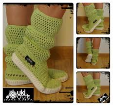crochet boots knit boots for street outdoor made to