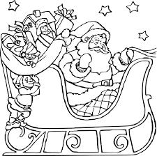 Coloriage Lutin Et Le Père Noël À Imprimer à Coloriage De Père Noel