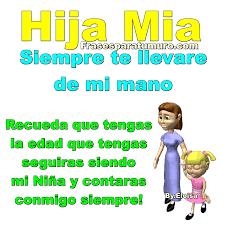 Hija Mia Siempre Te Llevare De Mi Mano Recuerda Que Tengas
