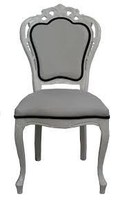 casa padrino luxus barock esszimmer stuhl in weiß schwarz designer stuhl luxus qualität