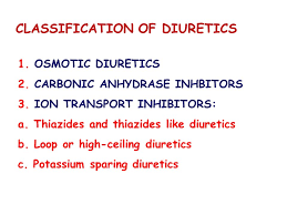 High Ceiling Diuretics Can Cause by Medicinal Chemistry Ii By Dr Mehnaz Kamal Assistant Professor