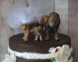 Lion Family Wedding Cake Topper