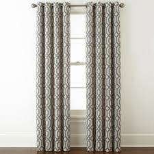 Grommet Top Curtains Jcpenney by Home Expressions Pasadena Print Blackout Grommet Top Curtain Panel