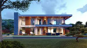 100 Contemporary House Photos High Quality Exterior Scene Lumion 8 3D Model
