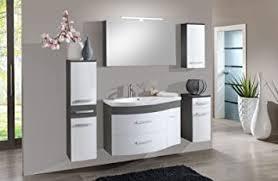 sam badezimmermöbel set lugano 3tlg in weiß grau mit