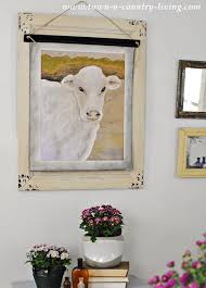 Cow Wall Art For Farmhouse Dining Room