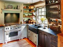 Small Primitive Kitchen Ideas by Salvaged Kitchen Cabinets