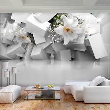 vlies fototapete blumen lilien 3d effekt tapete wandbilder