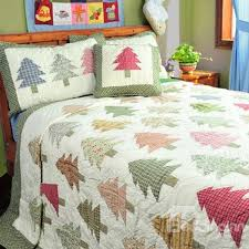 50 Colorful Christmas Tree 3 Piece Bedding Sets