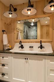 Trough Sink With Two Faucets by Trough Bathroom Sink With Two Faucets Niavisdesign
