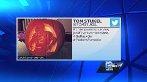 Green Bay Packers Pumpkin Designs by Love The Packers Carve A Pumpkin Youtube