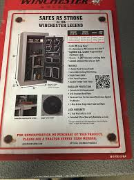 Tractor Supply Gun Safe Winchester by Wts Winchester 26 Gun Safe