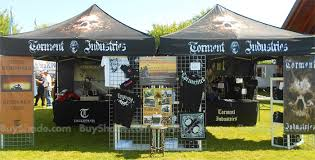Customized 10x10 Tents Digital Print Logos For Torment Industries Motorcycle Apparel Rider Memorials