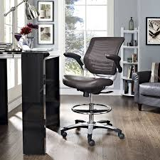 amazon com modway edge drafting chair in brown vinyl reception