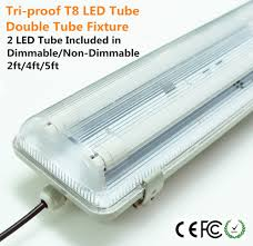 t8 led lights with striped clear tri proof dust proof