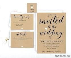 Wonderful Wedding Invitations On A Budget 97 Rustic Invitation Template By