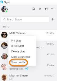 skype pour bureau comment consulter le profil d un utilisateur dans la nouvelle